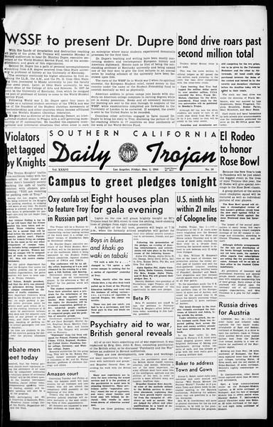 Daily Trojan, Vol. 36, No. 18, December 01, 1944