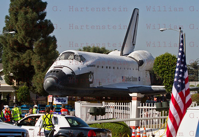OV-105 Endeavour's journey continues from Forum to Crenshaw Dr. Oct.13, 2012