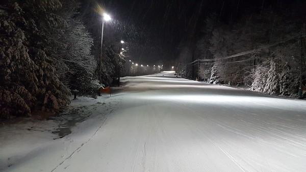 BW sledding