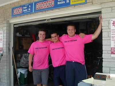14th St. Bike and Surrey Rental Staff Wear Pink, Ocean City, N,J,