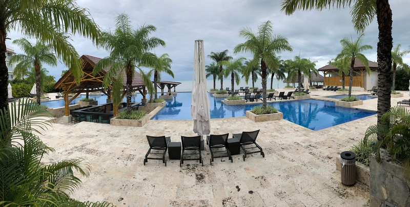 Pool by the beach on a vacation in Panama/