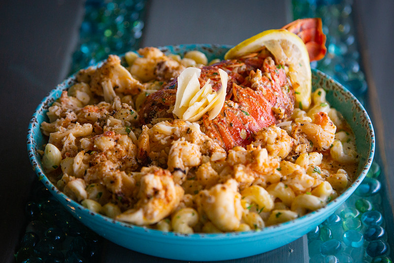 Lobster mac and cheese at Catch Clean Cook Marketplace and Deli on Alternate A1A in North Palm Beach, Monday, June 1, 2020. [JOSEPH FORZANO/palmbeachpost.com]