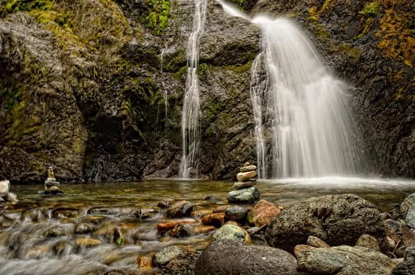Waterfalls near Mount Shasta