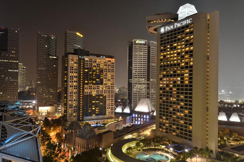 View from balcony, Marina Mandarin, Singapore