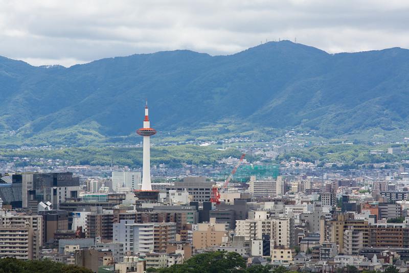 Kyoto tower viewed from Kiyomizu-dera