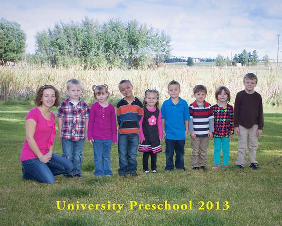 University Preschool 2013