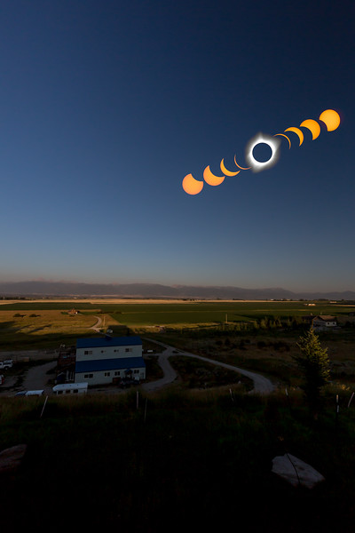 Landscape Eclipse composite