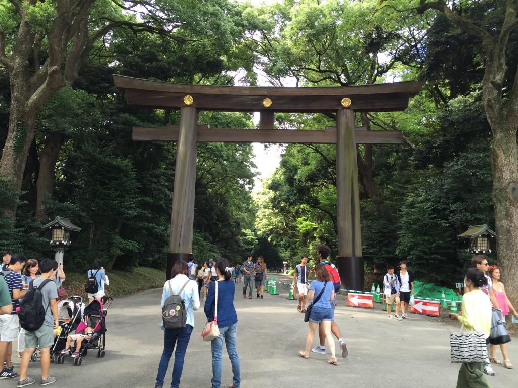 Meiji-jingu Shrine entrance