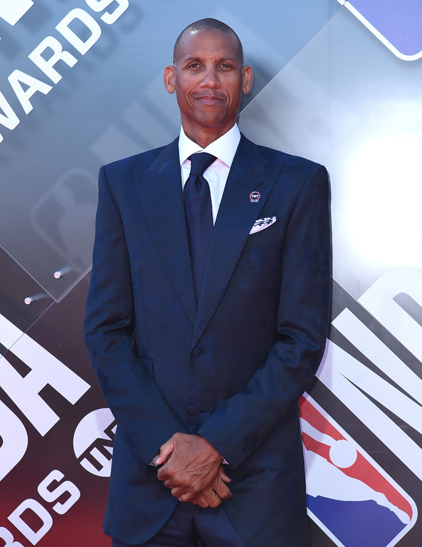 . Reggie Miller arrives at the NBA Awards on Monday, June 25, 2018, at the Barker Hangar in Santa Monica, Calif. (Photo by Richard Shotwell/Invision/AP)
