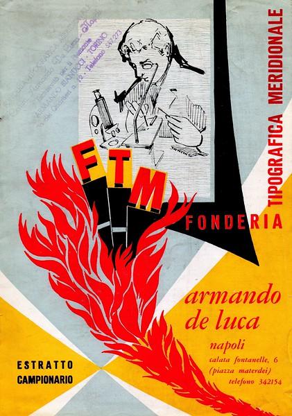 Catalog of Fonderia Tipografica Meridionale A. De Luca. 1970s.