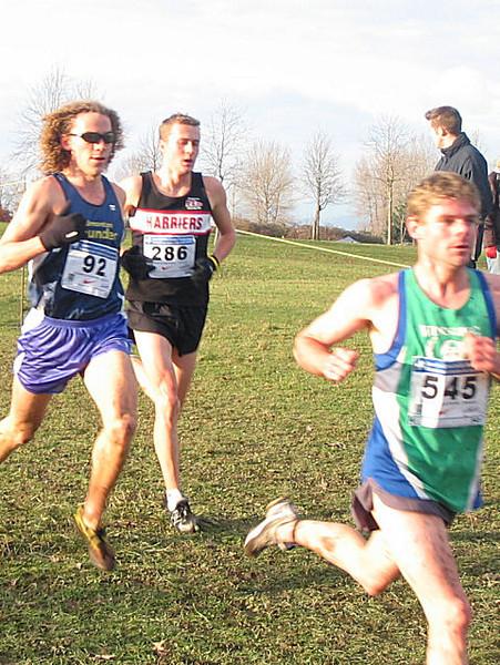 2005 Canadian XC Championships - Robbie Nissen, Kyle Jones, Michael Booth