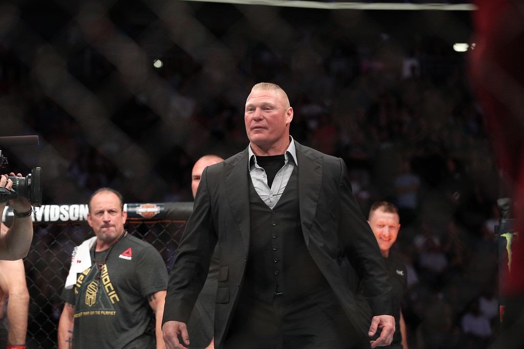 . Tim Phillis - The News-Herald UFC 226 on July 7, 2018, in Las Vegas. Brock Lesnar.