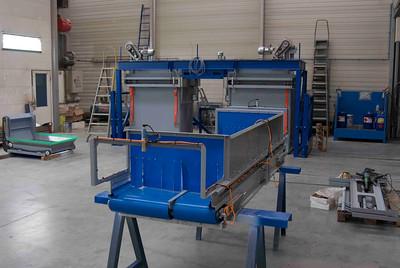 Dit is de vulband die boven op de machine wordt gemonteerd, dubbele band voor de laatste fijnafvulling.