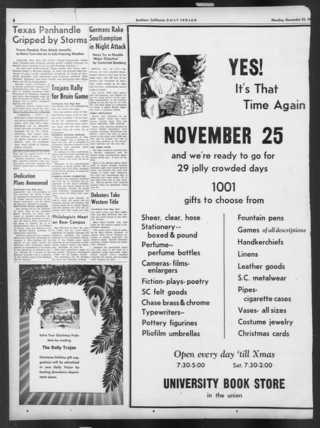 Daily Trojan, Vol. 32, No. 48, November 25, 1940
