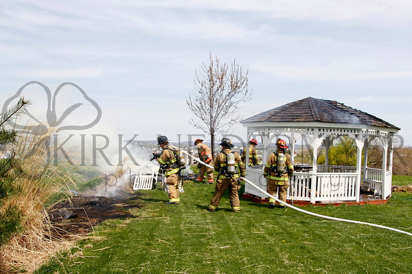 04.28.14 Gazebo fire in 39 Local