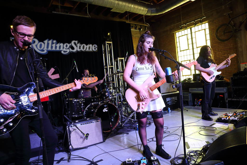 . Bethany Cosentino and Best Coast performs at the Rolling Stone day party at Mellow Johnny\'s Bike shop at SXSW on Tuesday, March 17, 2015, in Austin, Texas. Best Coast will be at Akron Civic Theatre with Paramore on Oct. 15. For more information, visit www.akroncivic.com/site/page.php?id=422&eventid=2422. (Photo by John Davisson/Invision/AP)