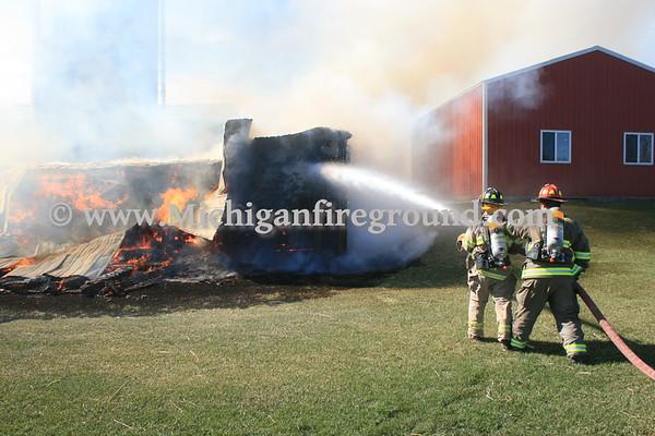 3/4/17 - Dansville barn fire, 3024 E. Howell Rd