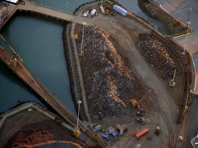 Scrap metal, port of Oakland