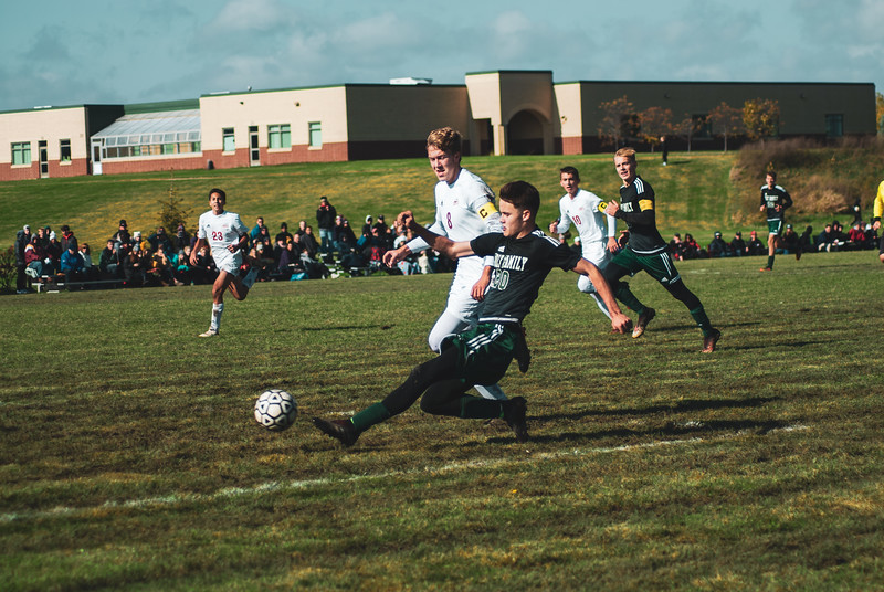 Holy Family Varsity Soccer vs. Mound Westonka Oct 13, 2018: Joe Fasching '19 (20)