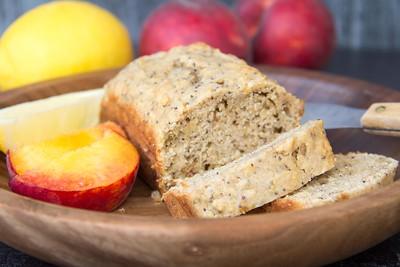 Peach Lemon Poppy Seed Bread