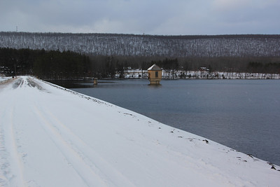 Snow at Still Creek Reservoir, Still Creek, Rush Township (12-30-2012)
