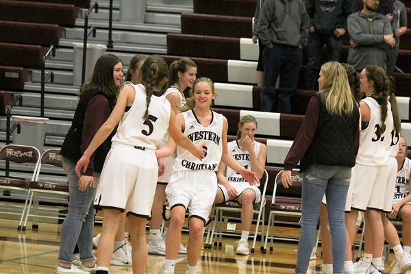 WC girls' basketball versus Worthington, MN 1-5-19