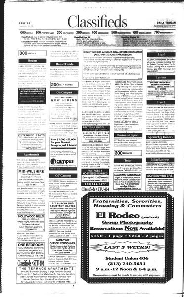 Daily Trojan, Vol. 150, No. 53, November 10, 2003