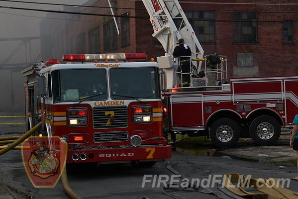 Camden, NJ - 12 Alarm Fire - 6/9/2011