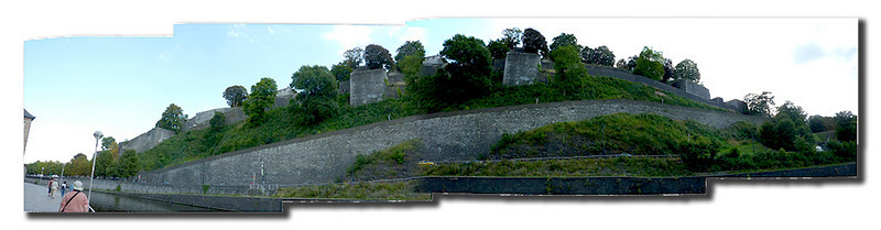 Namur. An old citadel on the hillside above town.
