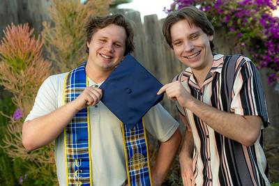 Nick and Zack Carlson Grad Portraits 6-11-2021