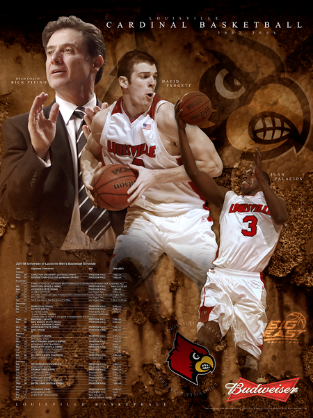 Louisville Basketball 2007-08 Poster | Photography and Design By David Klotz.