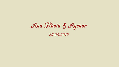 Ana Flávia  & Agenor 25.05.2019