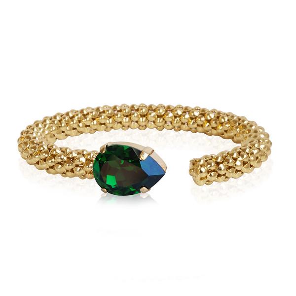 Classic Rope Bracelet / Dark Moss Green / Gold