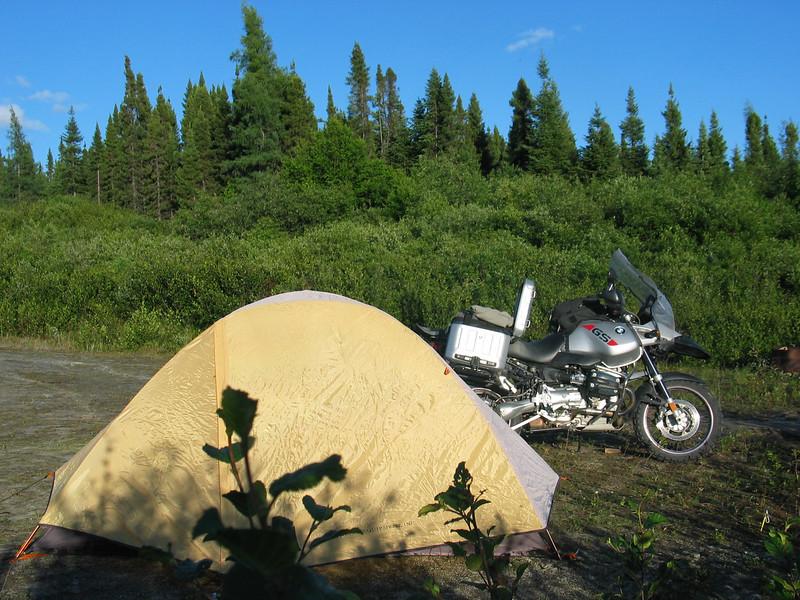 Camp near Gagnon