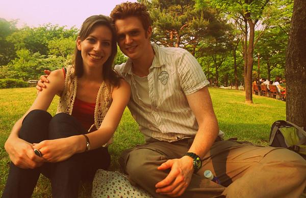 Samuel and Audrey in Korea