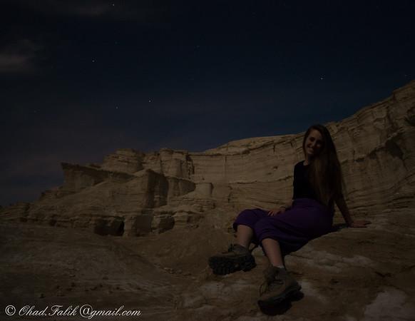 Havarei Metzada at night