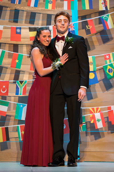 Spaulding High School students celebrate the school's 2019 prom Saturday, May 11th with a grand march at the Rochester school. [ Scott Patterson/Fosters.com]