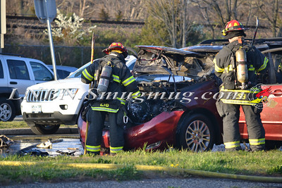 Massapequa F.D. MVA w/Fire Sunrise Hwy & Lakeshore Blvd 4-3-12