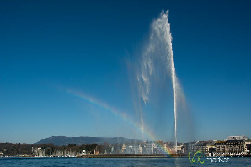 Rainbow and Jet d'eau - Geneva, Switzerland