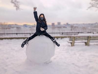 Snowstorm in Riverside Park, 2/7/21