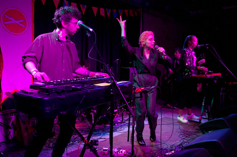 The band Ava Luna performing during Treefort Music Fest at the Linen Building in Boise, Idaho.