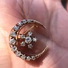 1.40ctw Victorian Rose Gold Crescent and Star Ray Brooch/Pendant 7