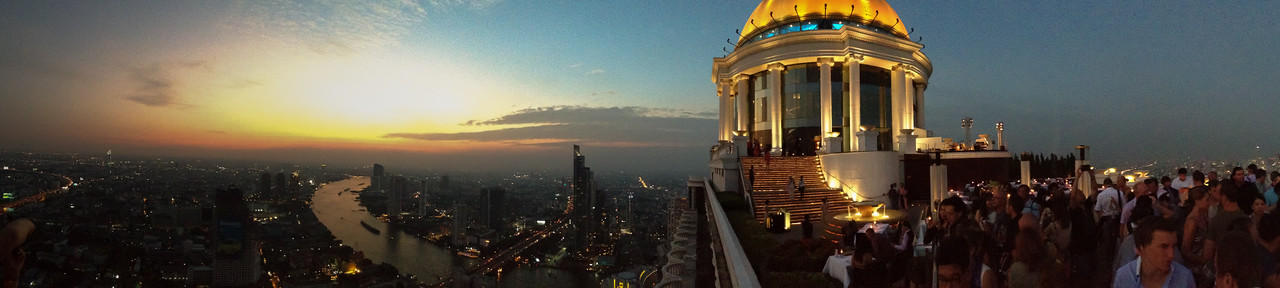 Sunset View from the Sky Bar in Bangkok