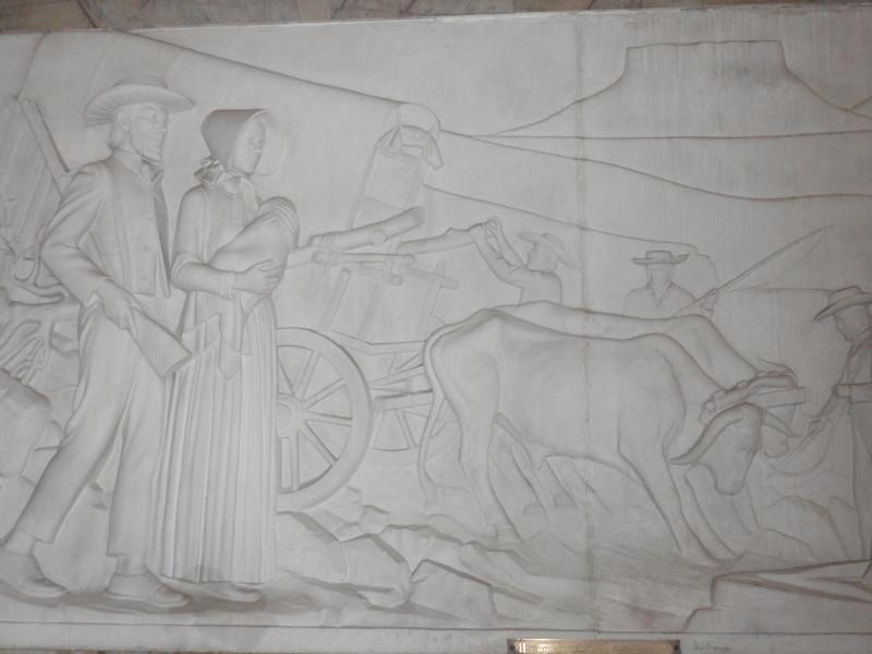 016_Pretoria. The Voortrekker Monument. Commemorating the Great Trek. 15,000 Pioneers. 1835-1854.JPG