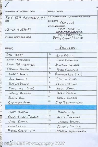 MFLP Lye Town 0 Romulus 0 (12.09.2020)