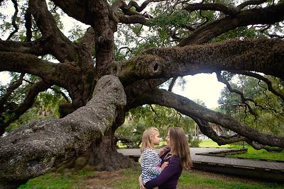 Cunningham Family, Treaty Oak Park, Jacksonville, Florida
