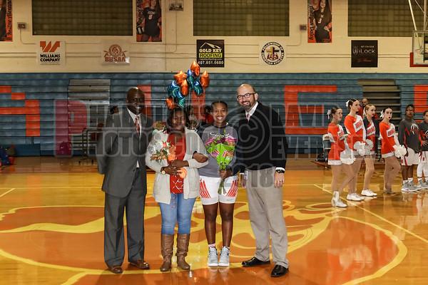 Girls Varsity Basketball Senior Night - 2019