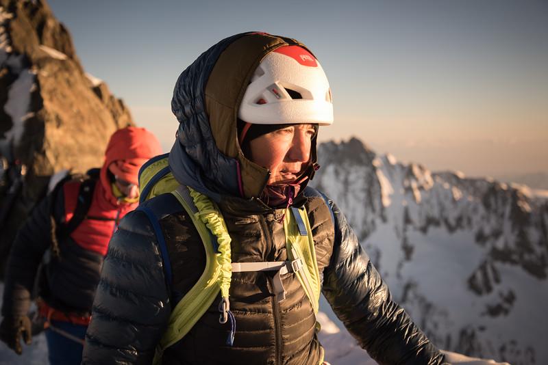 Liv Sansoz at the Hugisattel on the Finsteraarhorn, Switzerland