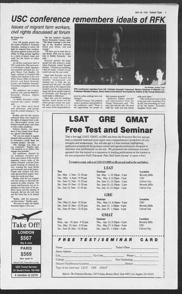 Summer Trojan, Vol. 120, No. 3, May 26, 1993