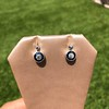 1.00ctw Old Mine Cut and Sapphire Target Dangle Earings 6